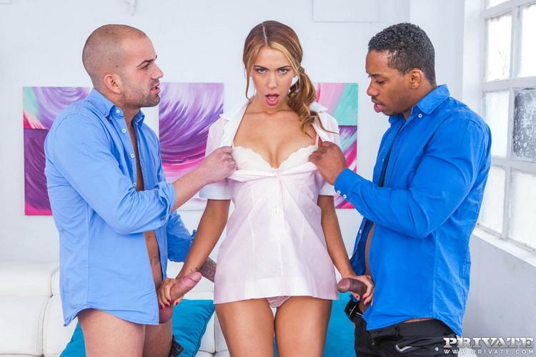 AnalIntroductions/Private - Ani Blackfox - Ani Blackfox Takes DP In An Interracial Threesome [HD 720p]