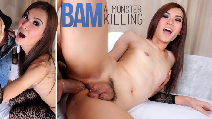 TS Bam in A Monster Killing with Shemale Bam 720p 328,9 Mb