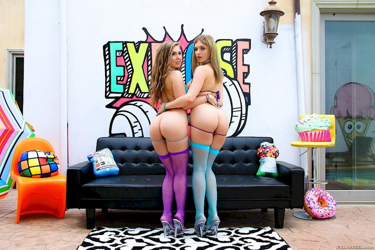 EvilAngel: Lena Paul, Giselle Palmer - Anal Play Threesomes [SD|400p|859 MB]
