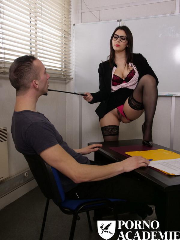 PornoAcademie/PornDoePremium - Valentina Nappi [MMF ANAL THREESOME WITH TEACHER VALENTINA NAPPI] (HD 720p)