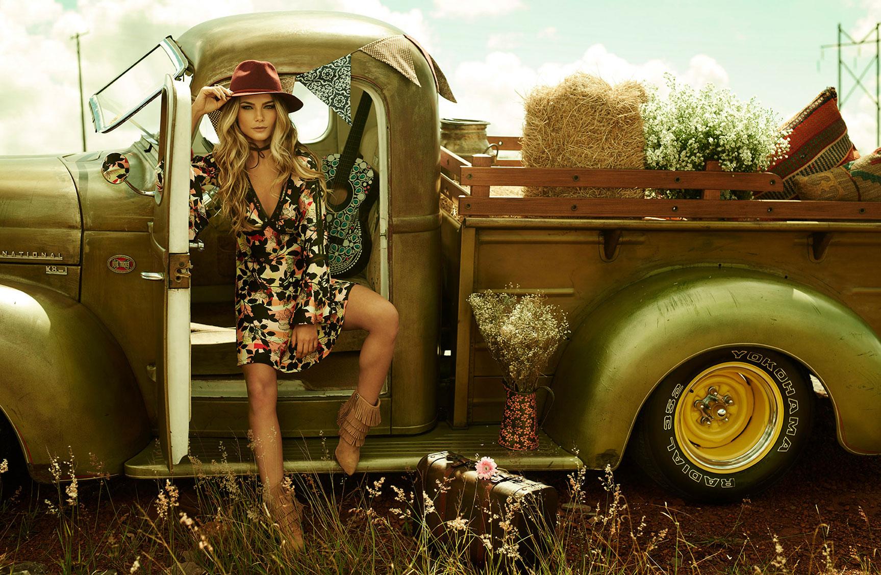 Карина Флорес в рекламной кампании модного бренда LOZZ / фото 03