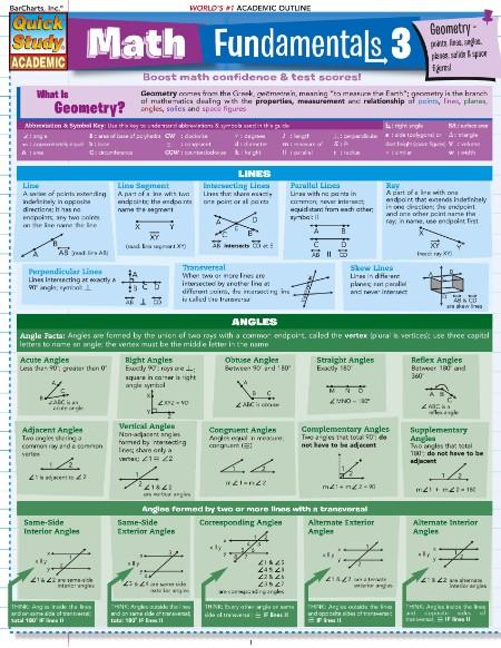 Math Fundamentals 3 (Quick Study Academic) [ENG]