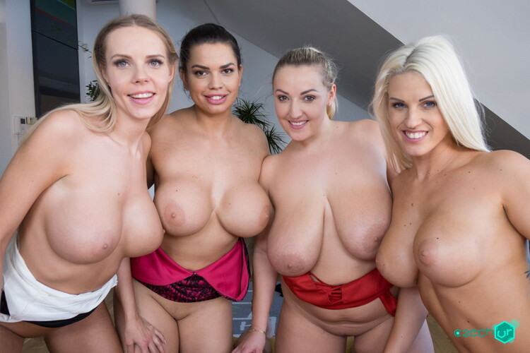 Blanche Bradburry, Chloe Lamour, Crystal Swift, Florane Russell ~ Heaven is Big Tits (Czech VR 277) ~ CzechVR ~ UltraHD 2K 1440p