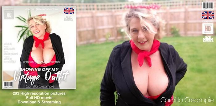 Camilla Creampie (EU) (47) - Hot Camilla showing off her vintage outfit (FullHD 1080p) - Mature.nl - [2021]