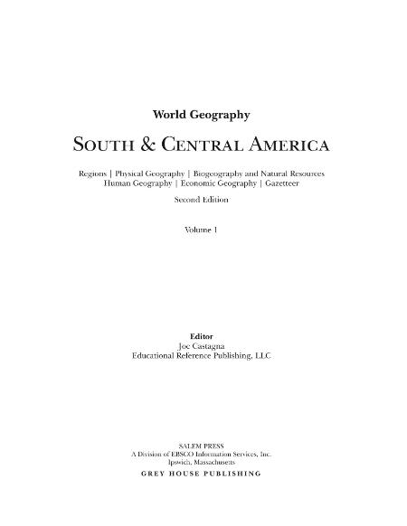 World Geography - South & Central America, 2nd Edition