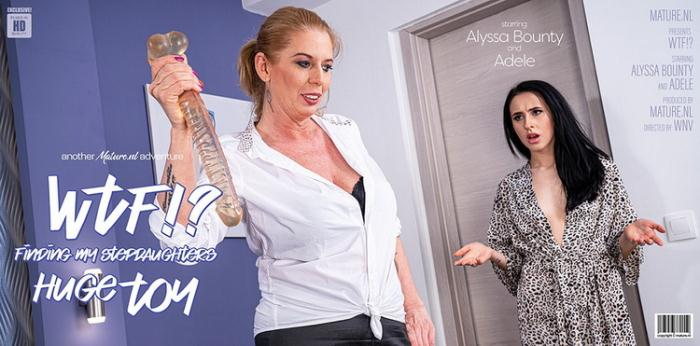 Adele (42), Alyssa Bounty (21) - Hot Alyssa Bounty catches her stepmom with her huge dildo (FullHD 1080p) - Mature.nl - [2021]