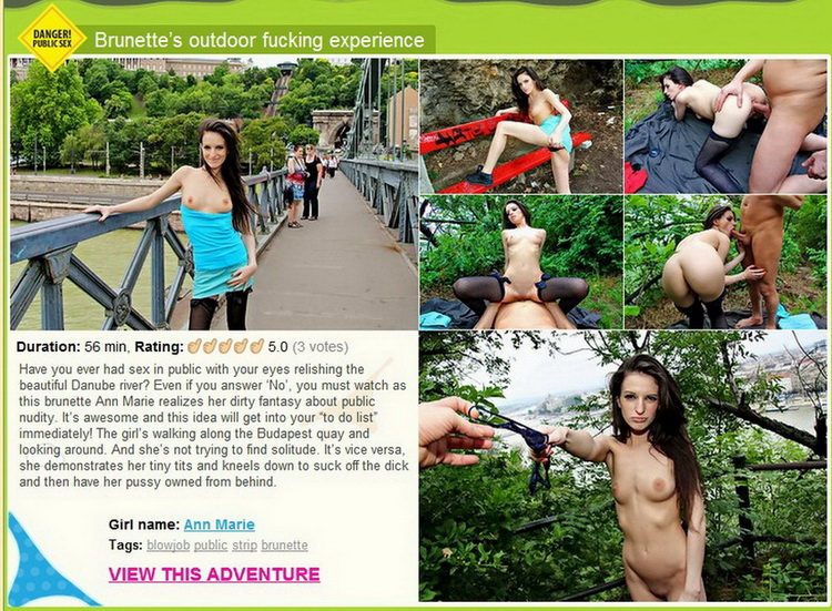 Ann Marie ~ BrunetteS Outdoor Fucking Experience ~ PublicSexAdventures/WTFPass ~ HD 720p