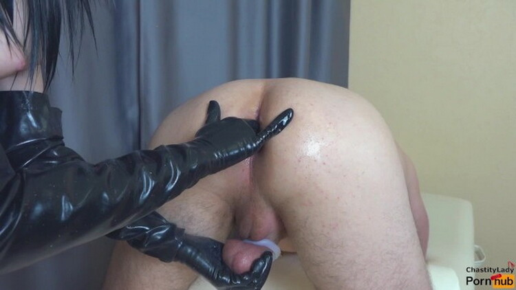 Chastity Lady - Femdom prostate milking in chastity belt with strapon cum in ass my slave [Pornh] HD 720p